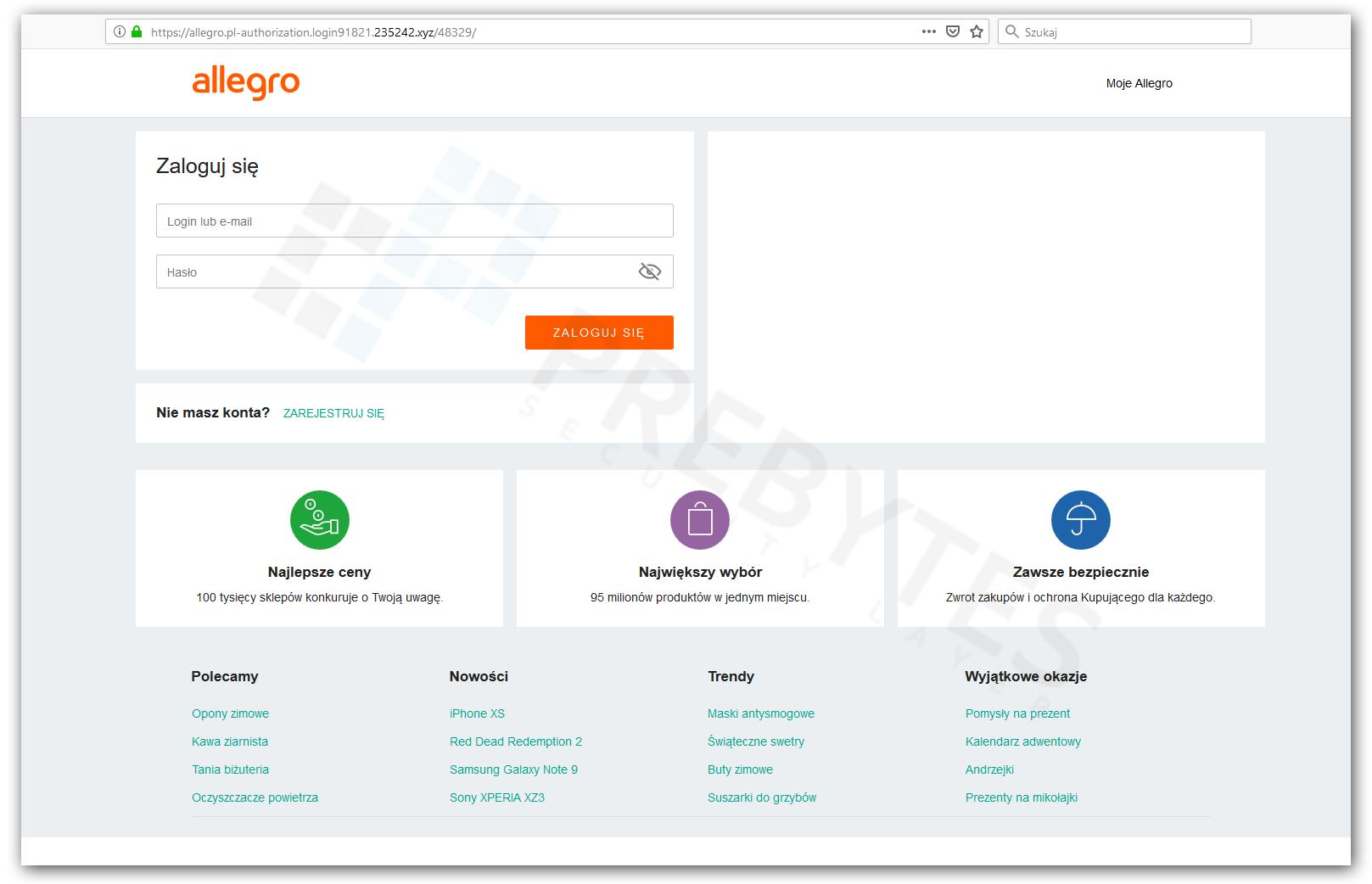 Falszywe Strony Allegro I Skuteczny Sposob Ochrony Przed Nimi Browserwall