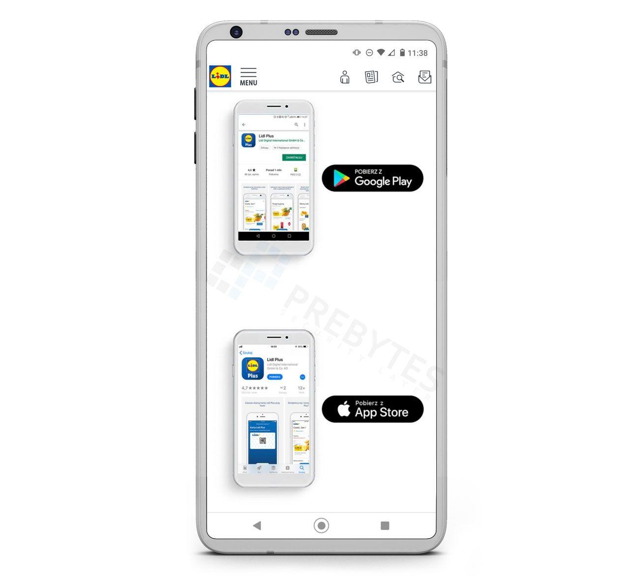 Fałszywa aplikacja Lidl Plus