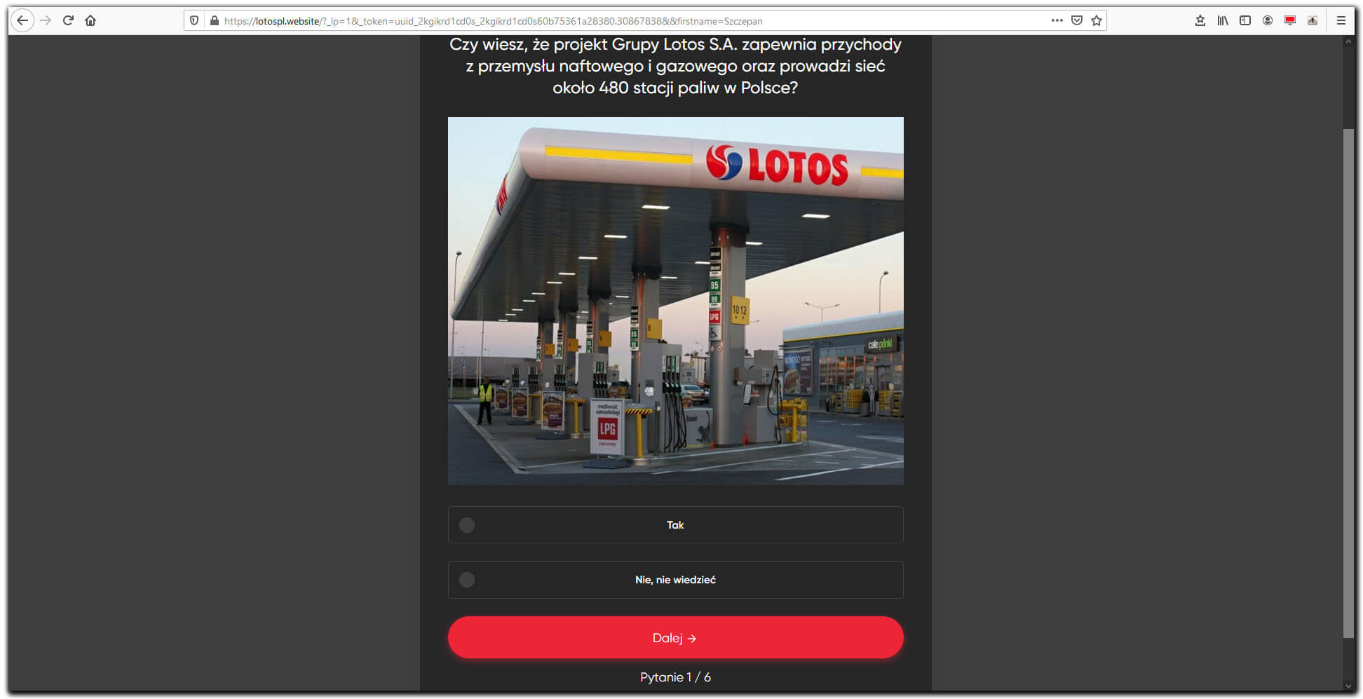 Fraud Lotos - pytania do formularza zgłoszeniowego
