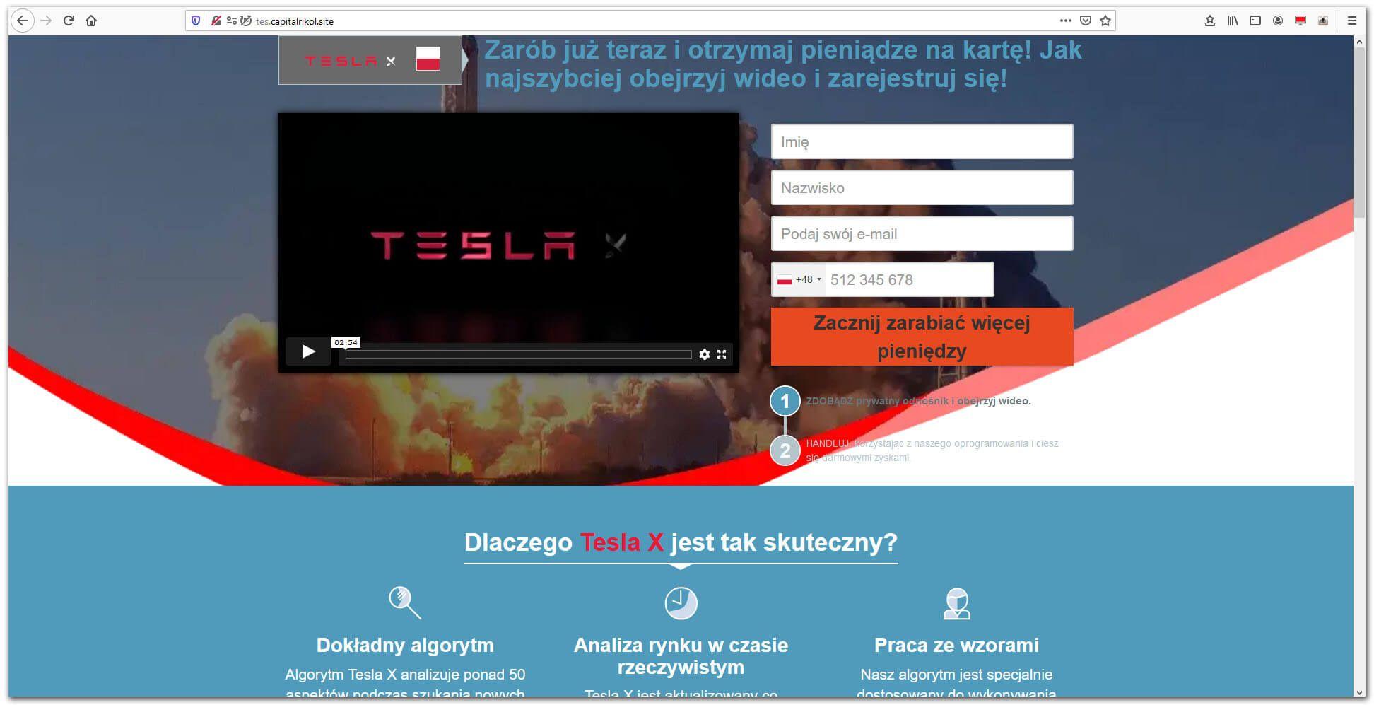 Tesla X - projekt inwestycyjny